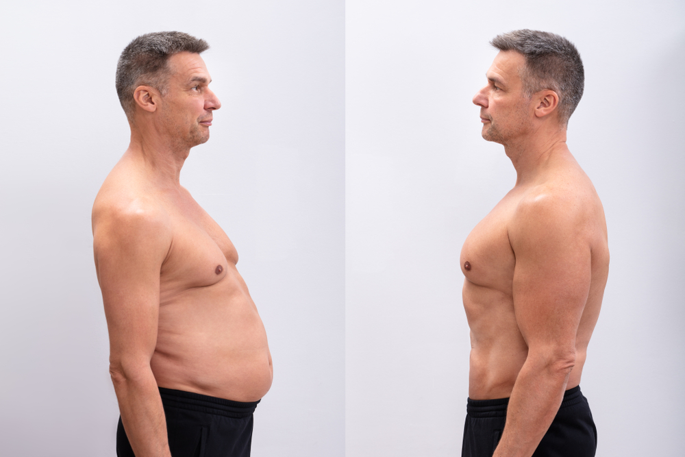 Testosterone replacement therapy and hGH therapy before and after.